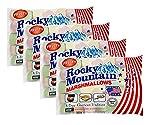 Rocky Mountain Marshmallows Fruity paquete de 4x300g, dulces tradicionales americanos para asar en la hoguera, a la parrilla o al horno, 4x300g
