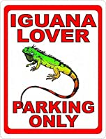 Iguana Lover Parking Only 金属板ブリキ看板警告サイン注意サイン表示パネル情報サイン金属安全サイン