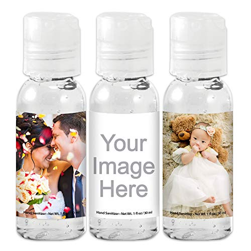 Personalized Hand Sanitizers 1 oz Gel, Custom Hand Sanitizers for Wedding Favors, Baby Shower Favors, Party Favors (Set of 12)