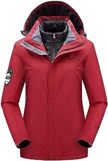 Womens Waterproof Mountain Jacket Windproof Winter Coats Warm Softshell for Hiking, Riding