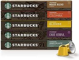 Café Starbucks em Cápsulas Nespresso, Favoritos Variedades - 50 Cápsulas (10 de cada sabor)