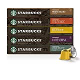 Starbucks by Nespresso, Favorites Variety Pack (50-count single serve capsules, 10 of each flavor,...