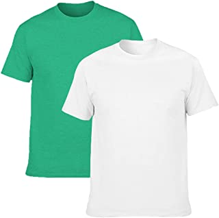 Men's Classic Basic Solid Ultra Soft Cotton T-Shirt | 1-2-4 Pack