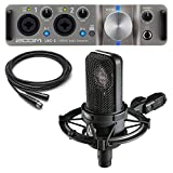 Audio-Technica AT4040 Condenser Microphone with Zoom UAC-2 Audio Converter and Cable