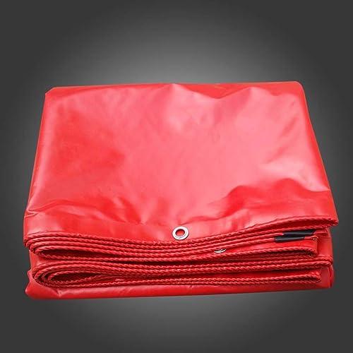 Guoqiufeng Gqf Bache antipluie de Haute qualité Rouge 100% imperméable à l'eau de Prougeection Solaire bache épaisse bache d'ombrage extérieur Grand Camion Toile bache bache