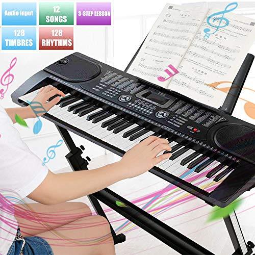 BALLSHOP Digital Piano 61 Tasten Keyboard Digital-Pianos E-Piano 255 Sounds & Rhythmen USB MP3