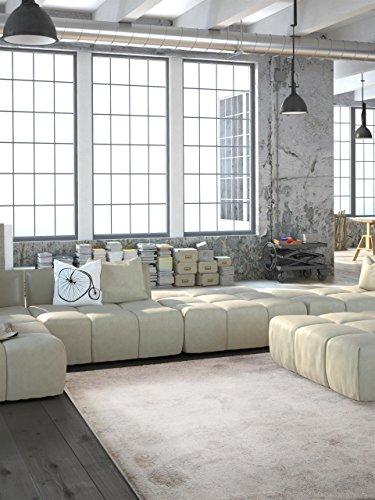 benuta Vintage Teppich im Used-Look Velvet Beige 160x230 cm | Moderner Teppich für Schlafzimmer und Wohnzimmer