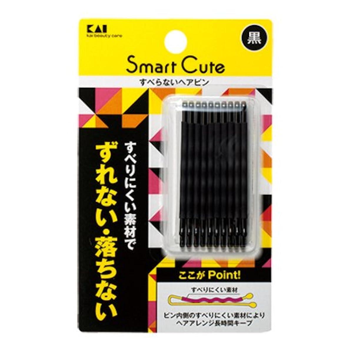大人シエスタ報酬の貝印(KAI) スマートキュート(SmartCute) すべらないヘアピン黒