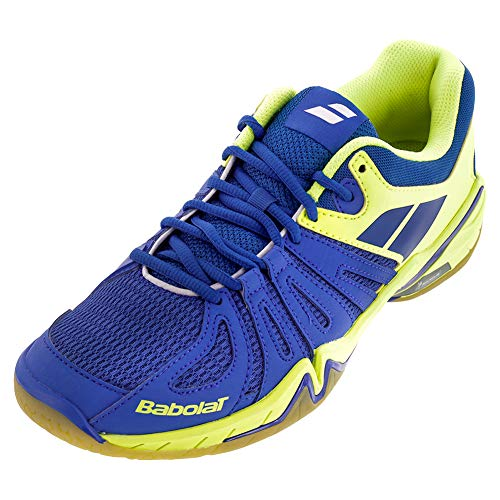 Babolat Shadow Spirit Badmintonschuhe Blau/Neon, Schuhgröße:EUR 44.5, Farbe:Blau