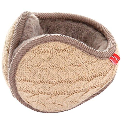 LerBen® Winter-Ohrenschützer, Wollgarn, Zopfstrick, verstellbar, Ohrenschützer Gr. One size, khaki