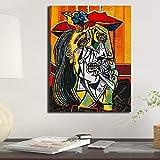 N / A Pintura sin Marco Resumen Mujer Llorando Lienzo Pintura Moderna Sala de Estar de la paredZGQ9065 60x90cm