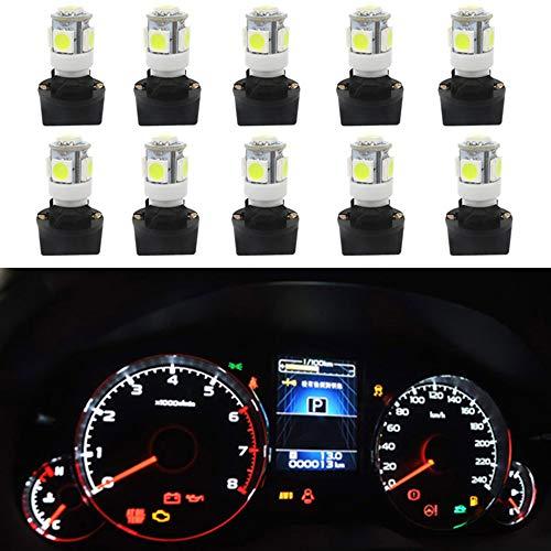 WLJH Lot de 10 ampoules LED à circuit imprimé T10 194 168 PC194 PC195 PC160 PC161 PC168 pour tableau de bord automobile - Blanc