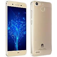 REY Funda Carcasa Gel Transparente para Huawei P8 Lite Smart, Ultra Fina 0,33mm, Silicona TPU de Alta Resistencia y Flexibilidad