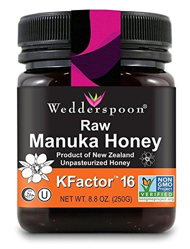 Wedderspoon Raw Premium Manuka Honey KFactor 16, 8.8 Oz,...