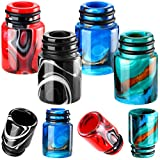 510 Drip Tips Replacement Resin Drip Tip Connector Cover Honeycomb Standard Drip Tip for Coffee Machine Favors Ice Maker (4, Black, Red, Black, Yellow)