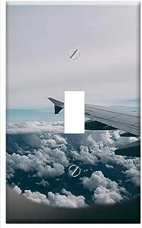 Switch Plate Single Toggle - Airplane Window Wing Flight Travel Transportation
