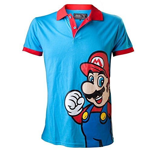 Polo 'Super Mario Bros' - Mario - Rouge/bleu - S