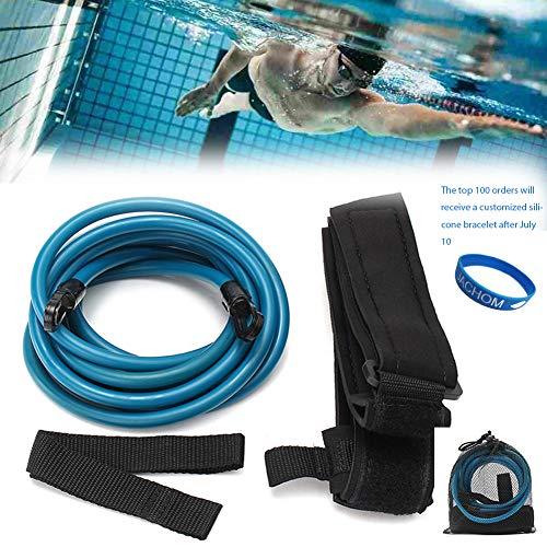 JACHOM Pool Schwimmgürtel Kinder/Erwachsene | Einstellbare Schwimmgurt, Schwimmwiderstand Gürtel, Schwimmtrainer Gürtel, ohne Gegenstromanlage für pool, Widerstandstraining