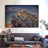 ganlanshu Pintura sin Marco Patrón de Animales Cartel Mural Arte Lienzo Mural Sala de Estar decoración del hogar Pintura ZGQ6598 60X80cm