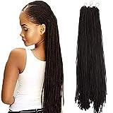 Mayloss Long Micro 3X Pre-Looped Synthetic Zizi Braids 10 Packs/Lot 28 Inch 50g/Pack 4# Color Thin Small Box Braid Crochet Twisted Hair Synthetic Kanekalon Braiding Hair Extension