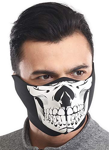 Half Face Ski Mask for Cold Weather - Half Balaclava Face Warmer - Men's Tactical Winter Face Cover For Skiing, Snowboarding, Running & Motorcycling - Fits Men & Women