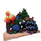 MUJING Colorido Resina Artificial Coral Cueva Decoración para Tanque de Pescados Marina del Ornamento del Acuario Mountain View Paisaje de la decoración de la Roca