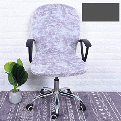 TELLMNZ Rotating Armchair Slipcover High Elasticity Office Computer Chair Cover Removable Nonslip Boss Chair Seat Case