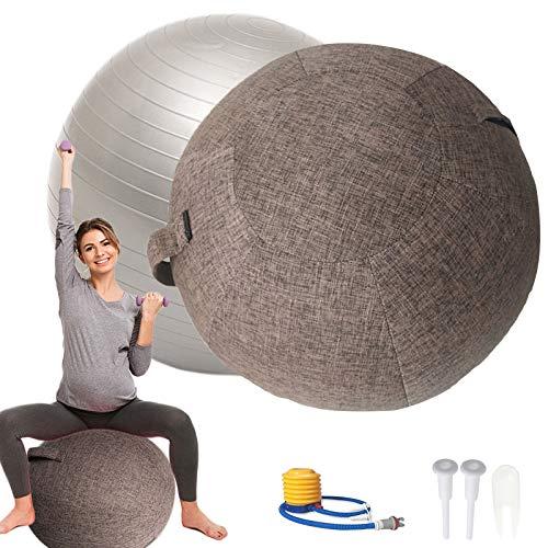Pelota Pilates Grande55cm / 65cm / 75cm Silla Yogacon Tapa TapóN de Aire Y Herramientas para Pelota de Fitness Pelota de Asiento ErgonóMicos para Oficina y Hogar