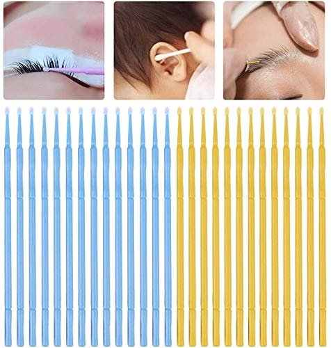 wkwk 200 Eyelash Cleaning Sticks,micro Brushes,plastic Disposable Eyelash Extension Brushes,eyelash Grafting Tools,for Eye Makeup And Cleaning