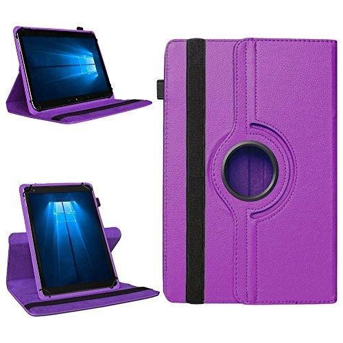NAmobile Tablet 360° Drehbar Hülle für Odys Wintab Ares 9 Tasche Schutzhülle Hülle Cover, Farben:Lila