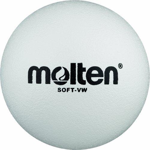 Molten Softball Volleyball Soft-VW, Weiß, Ø 210 mm Ball, 200 g, Durchmesser: 210mm