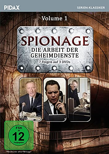 Spionage - Die Arbeit der Geheimdienste, Vol. 1 / Die ersten 7 Folgen der spannenden Krimiserie mit Starbesetzung (Pidax Serien-Klassiker) [3 DVDs]
