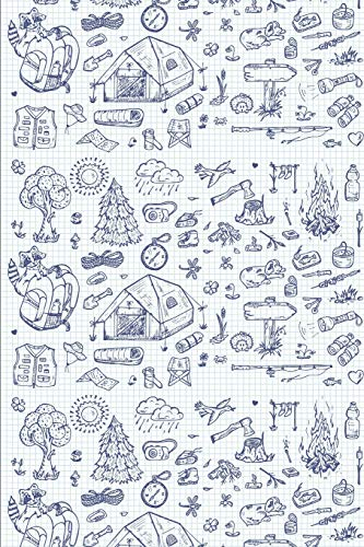 Hike Pattern - Pen Drawings: Blank Lined Notebook for Hiking and Camping
