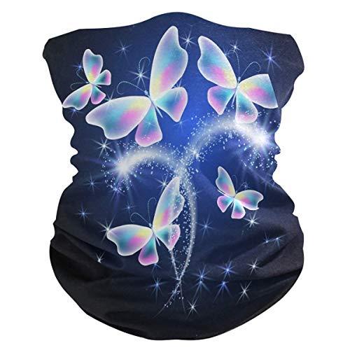 Haarband met diermotief, glanzend, vlindermotief, UV-bescherming, zonnemasker, halsdoek, sjaal