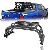 Hooke Road Ram 1500 Roll Bar Cage Bed Rack Luggage Basket for 2009-2018 Dodge Ram 1500 (5.8 6.5 8 FT Bed) Pickup Trucks