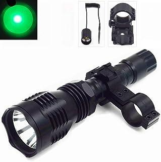comprar comparacion TUOFENG Linterna Caza Noche Verde Claro 250 yardas Lámpara Led de largo con Interruptor de Presión Remoto, Montaje de Barr...