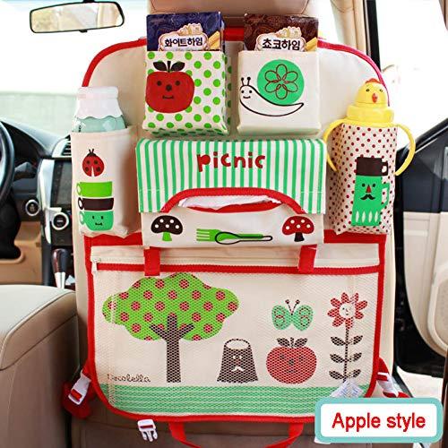 LLZGPZSND Cartoon auto rugleuning organizer opslag hangende tas levensmiddelen telefoon opbergen opruimen accessoires voor kinderen apple