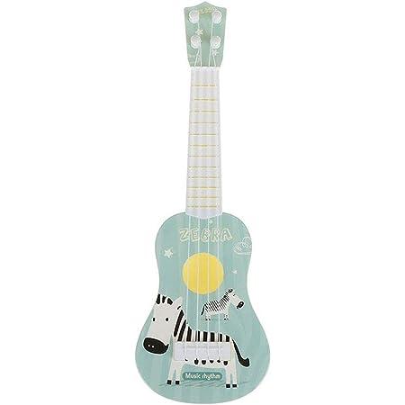 TikTakToo Kindergitarre Ukulele erstes Musikinstrument f/ür Kinder 53 cm Holz Spielzeug Gitarre mit 6 stimmbaren Saiten musikalische Fr/üherziehung