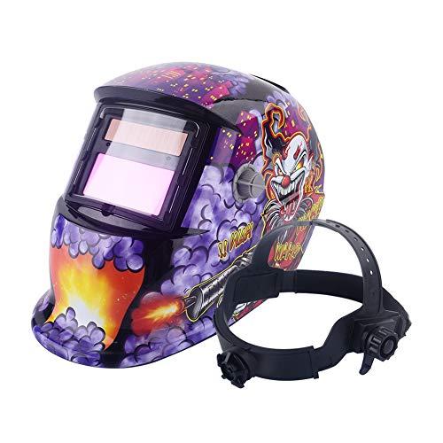 Casco de Soldadura, oscurecimiento automático, máscara de Soldador con Arco TIG Mig Grinding Alimentado por energía Solar