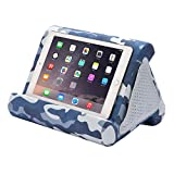 Flippy iPad Tablet Stand Multi-Angle Compact Lap Pillow for Home, Work & Travel. Our iPad and Tablet Holder Has Three Viewing Angles for All iPads, Tablets & Books. (Blue Camou, Single)