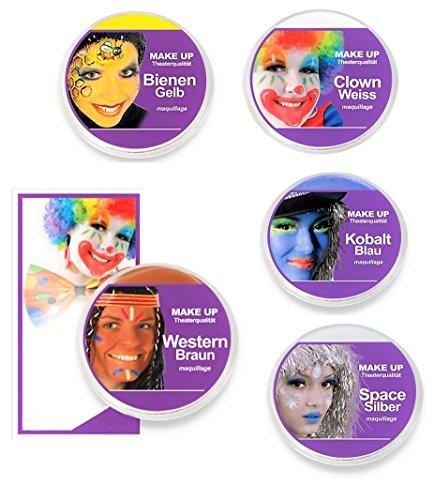 KarnevalsTeufel Theaterschminke Make UP Klassik, (Western-Braun)