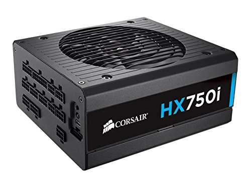 CORSAIR HXi Series, HX750i, 750 Watt, 80+ Platinum Certified, Fully Modular - Digital Power Supply