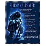 Plush Throw Blanket 50 x 60| Fireman's Prayer Throw Blanket ADD9-FF2011-TB
