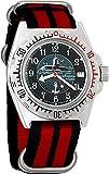 Vostok Capitán de Anfibios de Submarino Ruso Diver para Hombre Amphibia Reloj de Pulsera Negro Nailon # 110831