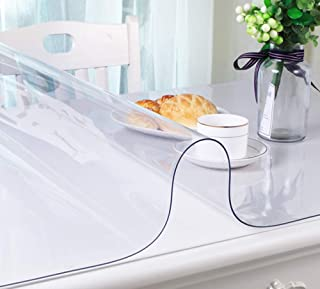 ChiZhe Multi-Size 1.5mm Thick Crystal Clear PVC Custom Desk Protector Pad Table Cover Waterproof Easy to Clean (24