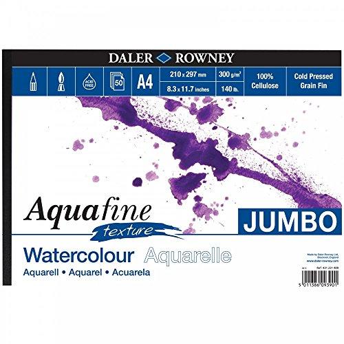 Daler Rowney Inc. Textur Aquarell Jumbo Unterlage A4