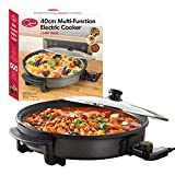 Quest 35500 Multi-Function Electric Cooker Pan with Lid, 1500 W, 40 cm, Black