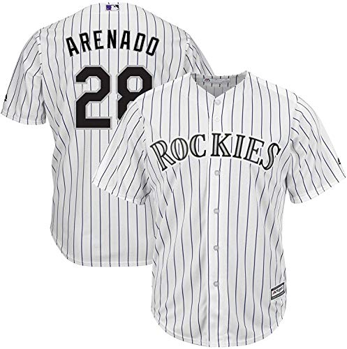OuterStuff Nolan Arenado MLB Majestic Boys Youth 8-20 White Home Cool Base Replica Jersey (Youth Small 8)