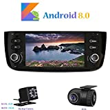 Android 8.0 Car Autoradio, Hi-azul In-dash 1 Din 6,2 Zoll 8-Core 64Bit RAM 4G ROM 32G Car Radio Autonavigation Kopfeinheit Car Audio für Fiat Grande Punto/ Fiat Linea (mit Rückfahrkamera...