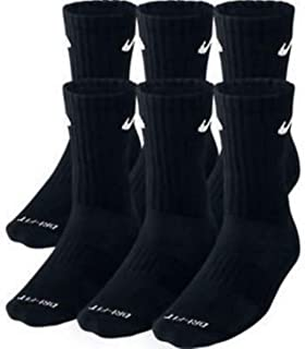 Dri-Fit Training Dry Cushioned Crew Socks 6 PAIR Black...
